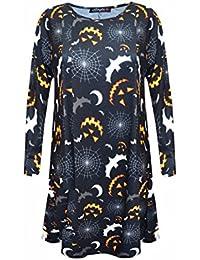 Damen Halloween gedrucktes Kleid für Swing Night & Dress Up-Partei-Abnutzung
