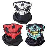 ToBe-U Seamless Multi Function Half Face Skull Tube Mask pour Halloween
