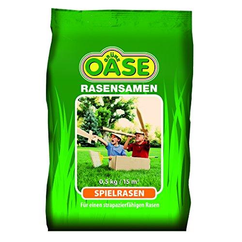 Grüne Oase Rasensamen GO-110 Spielrasen 0,5 kg, grün