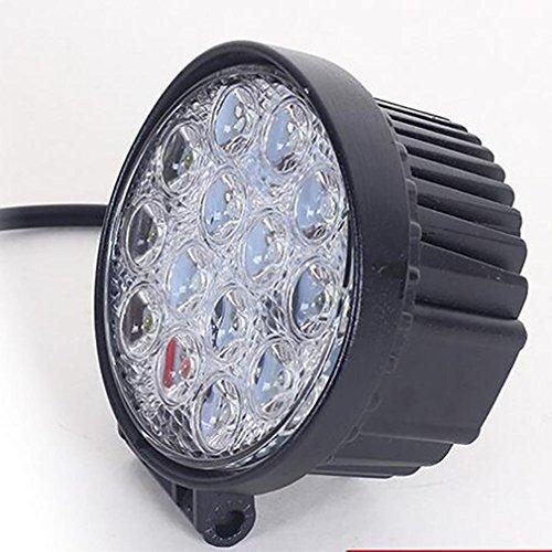 ZHAS LED Light Bar, Nordpol Light 42 W Runde Flood LED-Arbeitsleuchte fahren Nebelscheinwerfer Off Road Lights Wasserdicht für Off-road, LKW, - Utility-anhänger Led-leuchten