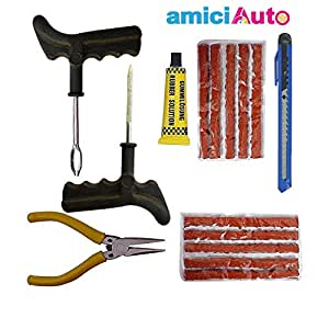 amiciAuto Puncture Repair Tools Kit for Tubeless Tyre