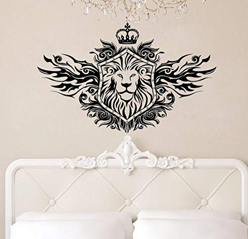 Mrlwy Crown Lion Shield Wandaufkleber Modische Wohnkultur Abnehmbare Wohnzimmer Wandtattoos Schlafzimmer Dekoration 36X60 Cm - Shield Geschmack