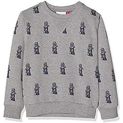 LEGO Wear Boy Ninjago Sebastian 713, Sudadera para Niños, Gris (Grey Melange 921), 11 años