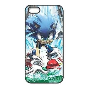Sonic The Hedgehog Coque iPhone 5 5S Coque téléphone portable Case Black U3O7NN6F Mode Cas de téléphone