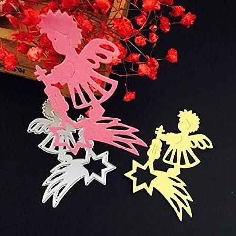 Stanzschablone Scrapbooking, SHOBDW Neue Blume Herz Metall Schneiden stirbt Schablonen DIY Scrapbooking Album Papier Karte Handwerk (A)