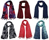 #4: FusFus Women's Poly Cotton Combo Of 6 Scarves (Multicolor_Free Size)