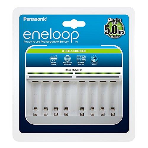 Panasonic eneloop, Intelligentes Premium-Ladegerät für 1-8 NI-MH Akkus AA/AAA -