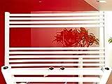 Badheizkörper SMYRNA Plus Weiß 1200 x 800 mm. SONDERMAß Gerade mit Mittelanschluss Handtuchtrockner Handtuchwärmer