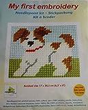 Orchidea Stickpackung für Kinder halber Kreuzstich Hund 9709