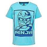 Lego Wear Jungen T-Shirt Ninjago M, Türkis (Light Turquise 733), 116