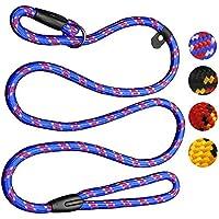 [Gesponsert]Zhichengbosi Hundeleine, Halsband, Nylon Blei Leine, verstellbare Durable Hundeschlitten Leine für Hund 10-80 lbs(Blau)
