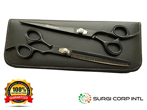 pet-dog-grooming-scissors-85-japanese-steel-black-matte-scissors-set-with-case