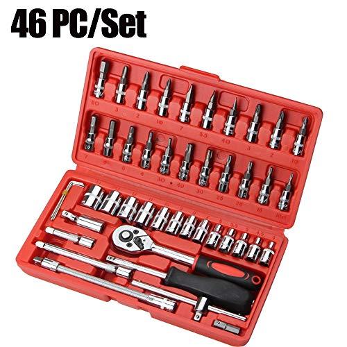 Preisvergleich Produktbild Klicop 64 Stück Steckschlüssel Auto Repair Tool Kombinationspaket Mixed Tool Set Handwerkzeug Kit