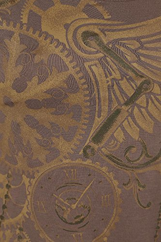 Gothicana by EMP Closed Clockwork Longsleeve Girl-Longsleeve braun Braun