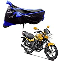 Adroitz AD-BBC-BKBL-T2-S-PSN-XPRO Bike Covers Body Cover for Hero Passion Xpro with Double Stripe (Black and Blue)