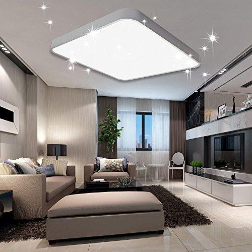 VINGO® 60W LED Deckenleuchte Kaltweiß Sternenhimmel Wohnzimmerlampe Küchenleuchte Deckenbeleuchtung Panel Lüster Ultraslim Schlafzimmer Esszimmer energiesparend