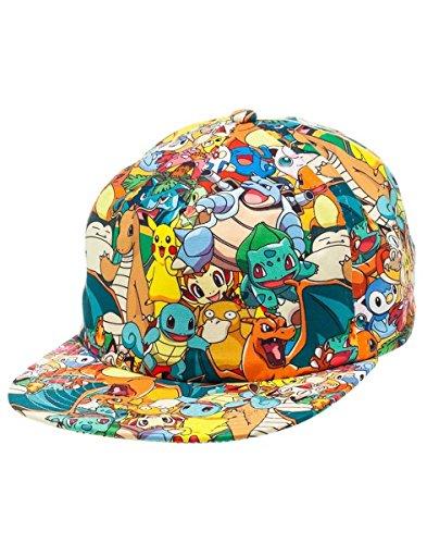 Pokemon-fedba1ewypok–Pikachu-y-sus-amigos-Todo-Print-gorra-talla-nica