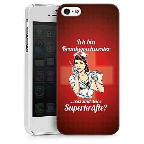 Apple iPhone X Silikon Hülle Case Schutzhülle Krankenschwester Spruch Nurse Hard Case weiß