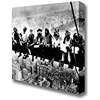 Square Lunch Atop Of A Skyscraper The Muppets Canvas Art Prints - Extra Large 40 x 40 inches