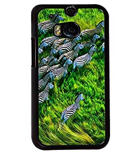 Printvisa Zebras Natures Beautiful Creation Back Case Cover for HTC One M8::HTC M8
