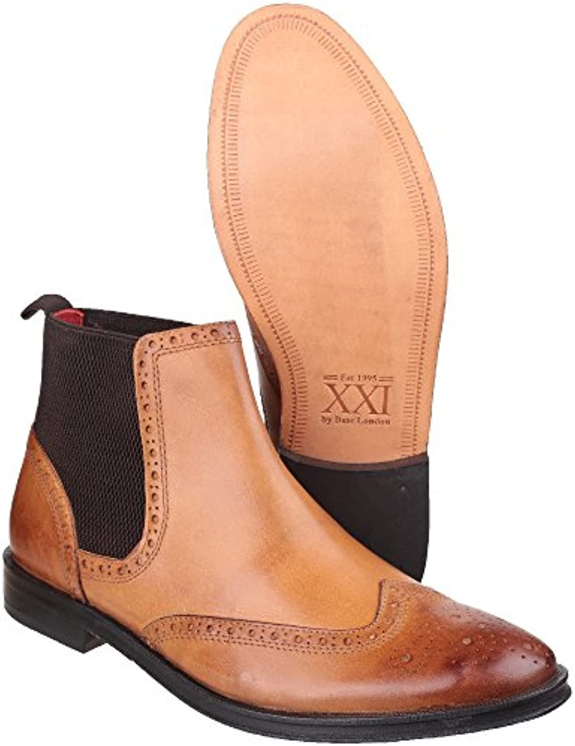 Base London Mens Compton Casual Leather Burnished Pull On Boots