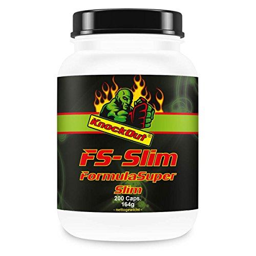Formula Super Slim, soppressore dell'appetito, il controllo del peso termogenica, per KO Nutrizione, 200 Caps. con zinco e Kelp