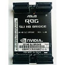 Nvidia GTX SLI HB SLI SLI Negro - Adaptador para cable (SLI, SLI, Negro, GeForce GTX 770, GTX 780, GTX 780 Ti, GTX 970, GTX 980, GTX 980 Ti, GTX 1070, GTX 1080 GTX TITAN, 40,6 mm)