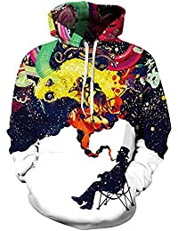 EmilyLe Galaxy Hoodie Colorido jersey gráfico 3D Sudaderas de manga larga Sudadera casual Prendas de abrigo para hombres
