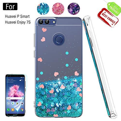 Atump Funda Huawei Enjoy 7S /P Smart, Glitter Fundas Antichoque Niñas Mujeres...