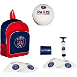 Football kit PSG - Sac + ballon + pompe + brassard + plots - Collection officielle PARIS SAINT GERMAIN...
