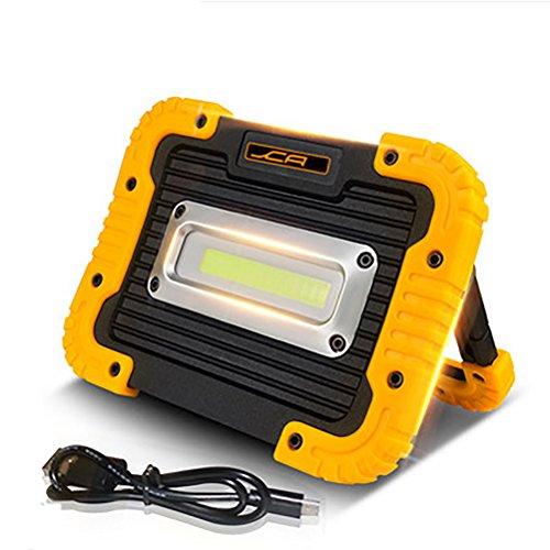 YONGYUE Aufladebare Arbeitslampe, Campinglampe COB LED Wasserfest IPX5, Powerbank Scheinwerfer, Flutlicht Scheinwerfer, Warnlicht, Notfalllampe, Reparaturlampe, Tragbares Flutlicht