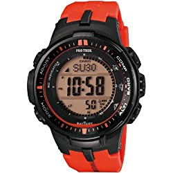 Casio Herren-Armbanduhr XL Pro Trek Digital Quarz Resin PRW-3000-4ER