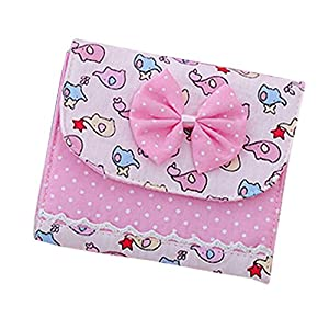 Bluelans® 4 x Lady Girl Bowknot Sanitary Towel Napkin Pad Purse Holder Easy Bag Organizer (Random Colour)