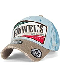ililily Howel's abgenutztes Aussehen klassischer Stil gewaschene Baumwolle Denim Baseball Cap Trucker Cap Hut