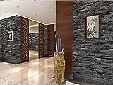 Kuamai Piedra De China 3D Papel Tapiz De Fondo De Pared De Ladrillo Impermeable Para Sala De Rollos De Papel De Pared De Vinilo Pvc Gris Estereoscópico