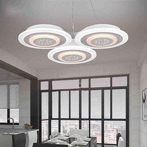MoMo Kreativer drei geführter Mahlzeit-Leuchter für Ausstellung Hall/Caf Eacute;/Restaurant mit Drei-Farben-Segmentierung (Durchmesser 67Cm-69W) - Innenbeleuchtung Chandeliers