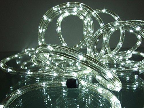 LED Lichtschlauch kaltweiß 25 m für Garten innen/außen von Gartenpirat®