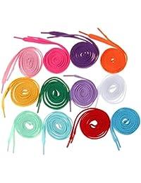 12 Pairs 8mm Wide Shoelaces Shoe Laces Sneakers Shoes String 12 Colors