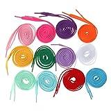 MagiDeal Schnür-Senkel Senkel, Laces , tube laces, Schuhbänder, in 12 Farben, Set/12Paare