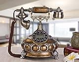 GJjydh Schnurgebundene Festnetztelefone/Klassischer Retro Telefon/Schnurgebundenes Analog-Telefon/Haushalt Festnetztelefone/Tasten Telefon
