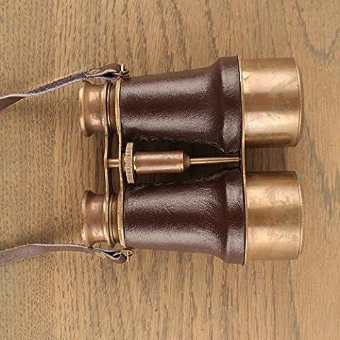 Télescope télescope binoculaire des ornements en cuir cuivre den