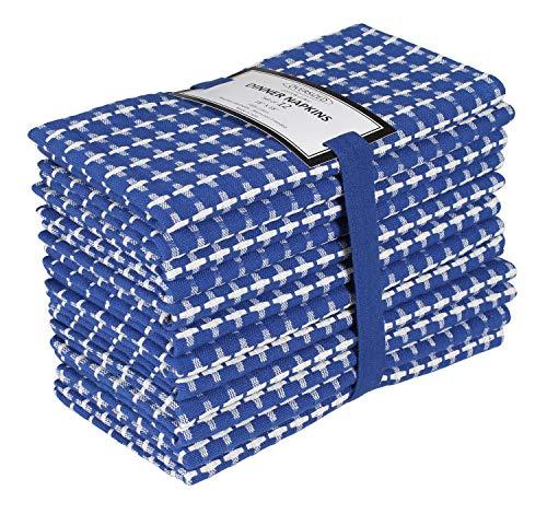 Baumwolle-Klinik 12er-Set Stoffservietten 46x46 cm, Servietten Hochzeit, 100% Baumwolle Servietten Weich Gemütlich...