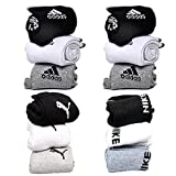 #7: combo pack of puma, adidas and nike socks set of 12 pairs puma logo sports ankel length cotton towel socks