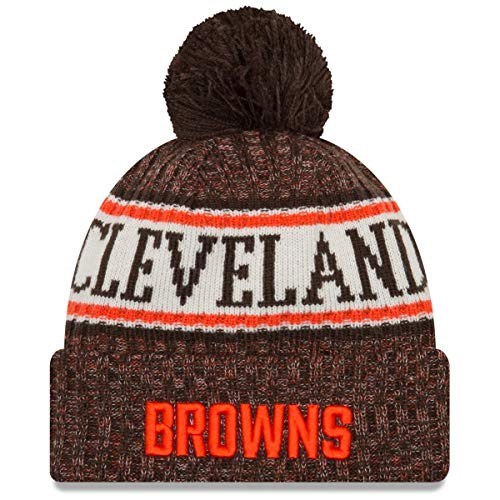 New Era - Cleveland Browns Beanie - on Field 2018 Sport OTC Knit - Brown  86ba817e57