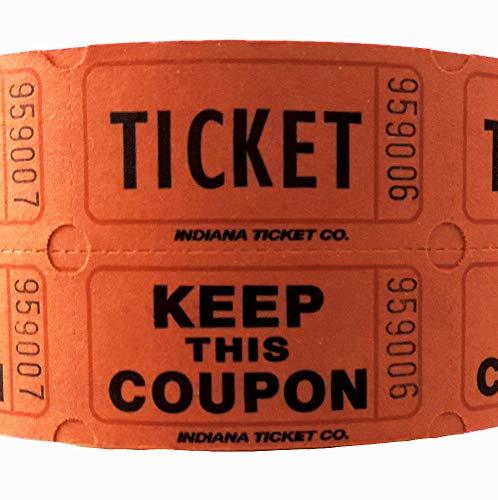 1000DOUBLE Ticket nummeriert Tombola Rolle