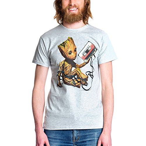 Guardians of the Galaxy Vol. 2 T-Shirt Herren Groot Mixtape Elbenwald grau Grau