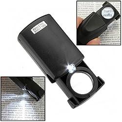 Electr/ónica Rey/® Lupa de Precisi/ón con 30 Aumentos y 21mm de Di/ámetro Lupa 30x