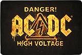 for-collectors-only AC/DC Teppich Danger! High Voltage Fussmatte 50 x 80cm Fototeppich AC/DC Deko Carpet Fußmatte
