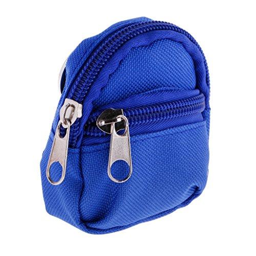 Segolike Trendy Doll Zipper Canvas Backpack Shoulder Bag for Barbie for 1/6 BJD SD DOD Dolls Blue  available at amazon for Rs.285