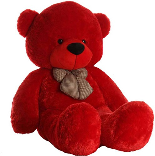 ToyKing 3 Feet Long Cute Teddy Bear (Red)